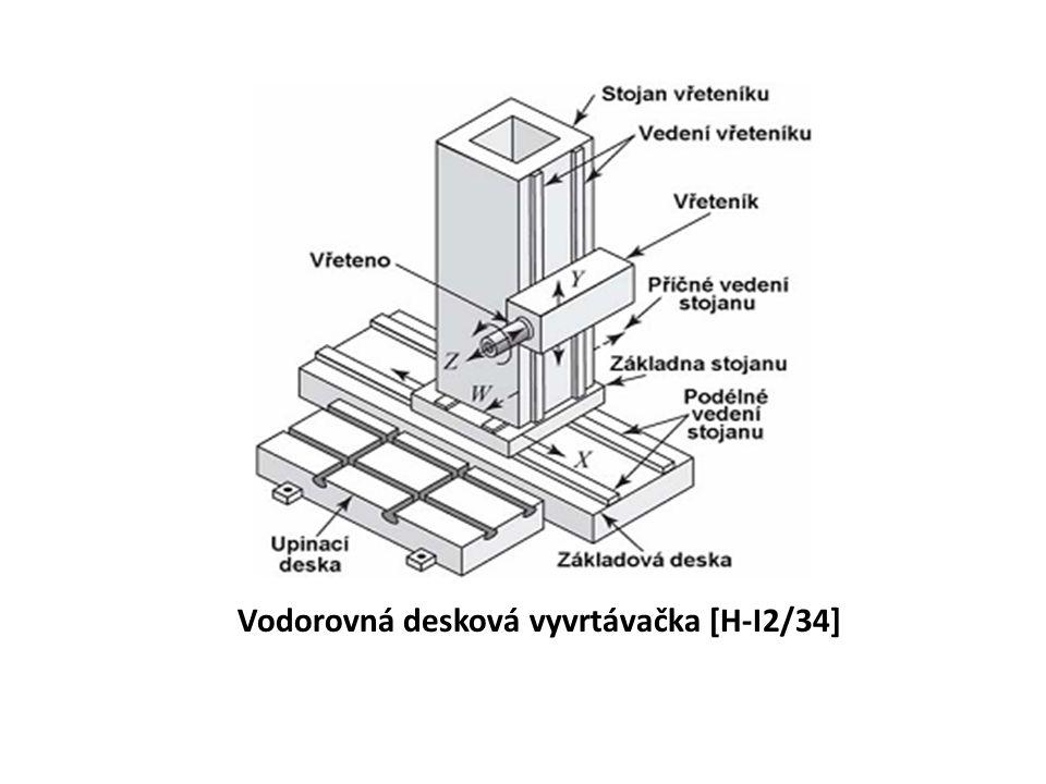 Vodorovná desková vyvrtávačka [H-I2/34]